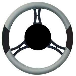 Elegant 11412 Wet Suit Material Steering Wheel Cover Fat