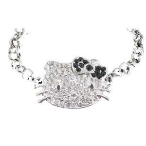 Hello Kitty Black Bow Toggle Bracelet made up of Crystal & Rhinestone