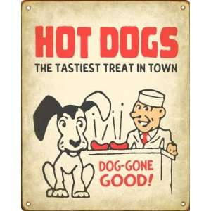 Retro Hot Dog Stand Sign   Hot Dogs Dog Gone Good