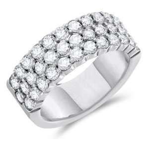 Diamond Wedding Band 14k White Gold Anniversary Ring (1.00