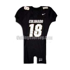 Black No. 18 Game Used Colorado Nike Football Jersey
