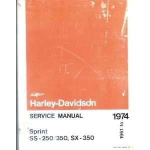Service Manual Sprint Ss 250/350,sx 350 1961 1974 (Harley Davidson