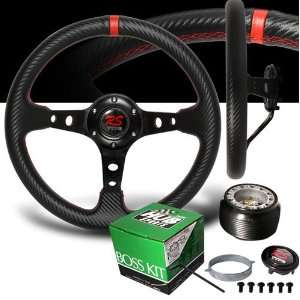 1987 1990 Toyota Camry Red Stitches Carbon Drift Style Steering Wheel