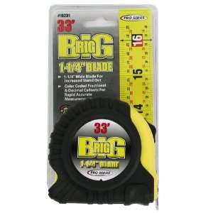 Series 33 Feet by 1 1/4 Inch Big Rig Tape Measure Home Improvement