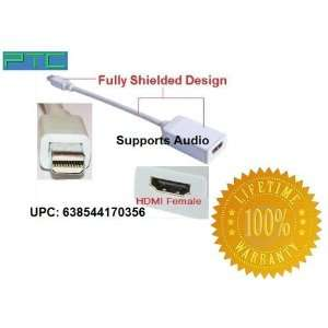 PTC Premium Fully Shielded Series Mini DISPLAYPORT Male to HDMI Female