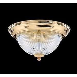 Quorum   3070 11 2   2 Light Flush Mount Fixture   Polished Brass