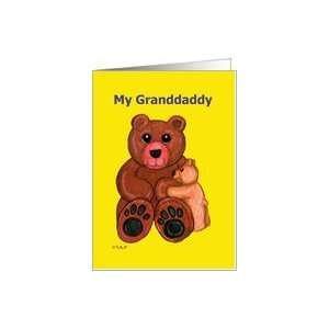 My Granddaddy Fathers Day Teddy Bears Card Health