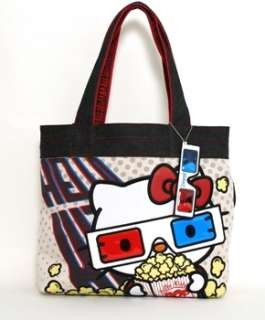 Authentic Loungefly HELLO KITTY 3D MOVIES TOTE BAG With Tags