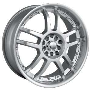 17x7 Akita AK 15 (415) (Hyper Silver w/ Machined Lip) Wheels/Rims