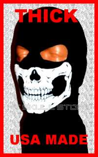 THICK MW2 Ghost SKULL SKI BALACLAVA 2HOLE HOOD FULL FACE MASK NINJA