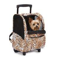 Cheetah Animal Print Backpack Dog Pet Carrier