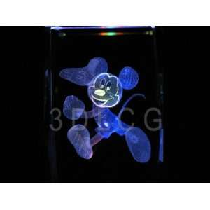 Disney Mickey Mouse 3D Laser Etched Crystal SR Everything
