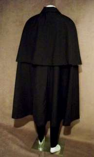 El ZORRO CAPE and MASK and Head Scarf Black Linen XS to XXL made in