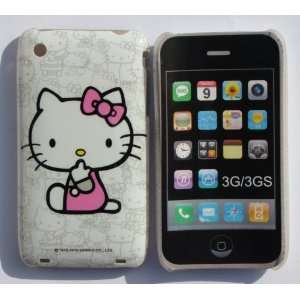 [NC] APPLE IPHONE 3G 3GS SITTING WHITE HELLO KITTY WITH