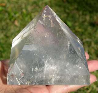 This gemstone pyramid is high quality. Very beautiful The Clear