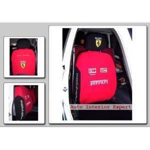 10PCS F1 FERRARI UNIVERSAL CAR SEAT COVER SET RED O04
