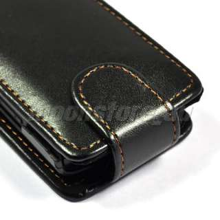 LEATHER CASE COVER SCREEN POUCH FOR NOKIA X3 BLACK