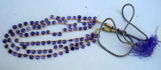 76 CT 3 STRANDS AMETHYST FACETED TEAR DROP NECKLACE
