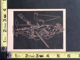 Native American Indian Design for Slate Drawings Victorian Trade Card