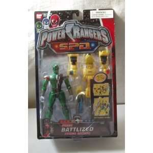 Power Rangers S.P.D.: Battlized Green Power Ranger with Yellow Armor