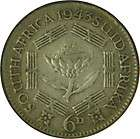 1943 3 Pence Rare Silver Coin South Africa NR