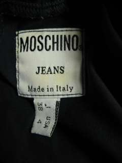 MOSCHINO Navy Blue Long Sleeve Hooded Shirt sz. 2 3 4