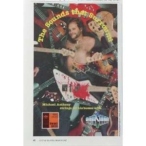 1987 Michael Anthony Van Halen RotoSound Print Ad (Music