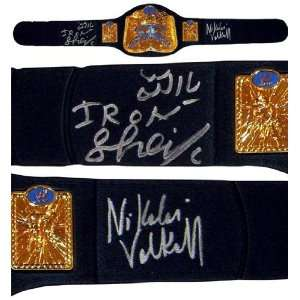 The Iron Sheik & Nikolai Volkoff Signed Replica Tag Team Championship