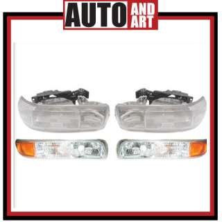 New 4 piece Set Headlight Lens Signal Marker Light SAE DOT Chevy