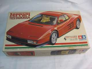 FERRARI TESTAROSSA SPORTS CAR TAMIYA MODEL KIT 1/24 BOX SEALED