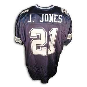 Julius Jones Autographed Dallas Cowboys Blue Reebok Authentic Jersey
