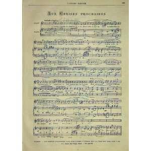 Music Score Sheet Cerises Prochaines Auriol 1891: Home & Kitchen