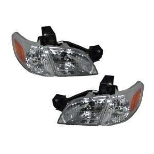 Headlights Headlamp Set With Xenons and Corner Lights Driver/Passen