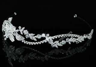 Bridal Wedding Sparkling Tiara use Swarovski Crystal T1465