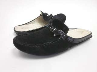 you are bidding on tod s black suede slides loafers driving shoes size