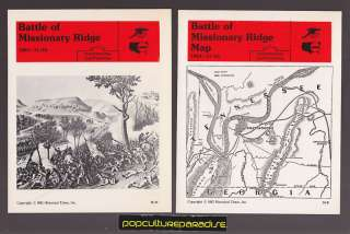 BATTLE OF MISSIONARY RIDGE 1863 U.S Civil War 2 CARDS