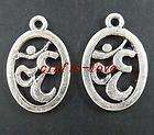 15pcs Tibet Silver om Symbol Pendants Charms 23x15mm