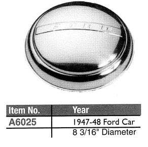 Polished Stainless Steel Hub Caps 1947 1948 Ford Car
