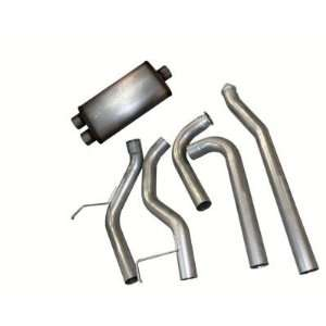 Bully Dog 84000 3.5 Aluminized Steel Cat Back Single Exhaust Kit with