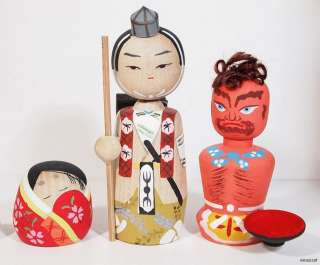 1970S JAPANESE KOKESHI DOLL HISTORICAL CHARACTERS #2