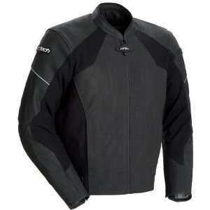 Leather Motorcycle Jacket Flat Black Large L 8990 0135 06 Automotive