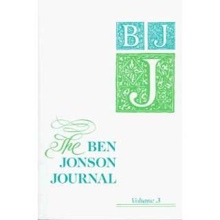 The Ben Jonson Journal Literary Contexts in the Age of