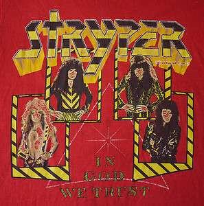 STRYPER Vintage 1988 Tour T Shirt   Glam Metal Sleaze Rock Concert