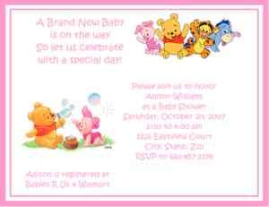 Pooh Tigger Baby Shower Invitations ALL IN 1 Game Pack