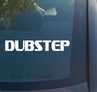 Dubstep Vinyl Decal Sticker drum bass music dance dj 2