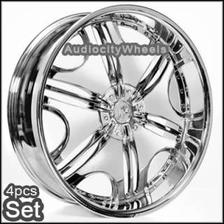 24 wheels rims chevy ford cadillac h3 qx56 gmc ram sku t24vc850096