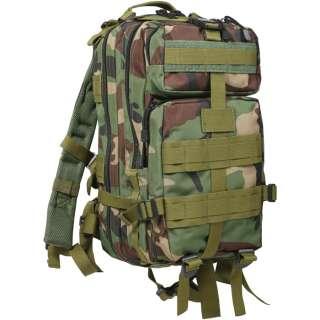 Woodland Camoufalge MOLLE Medium Transport Pack Military Camo Backpack