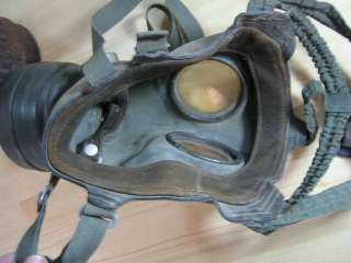 WW2 1937 ORIGINAL GERMAN GAS MASK w/CANISTER. WaA…