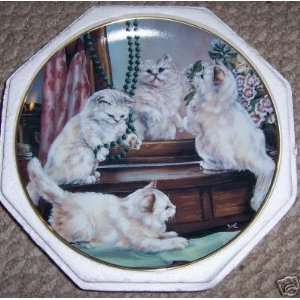 Franklin Mint Playing Dress Up Cat Plate