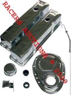 SBC CHROME ENGINE DRESS UP KIT CHEVY 350 327 400 305
